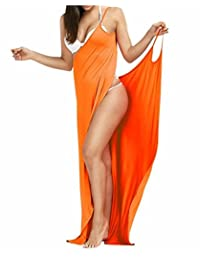 fe100c721e2 Outgoings Women's Bikini Cover Up Spaghetti Strap Beach Dress Wrap Swimwear  Swimsuit