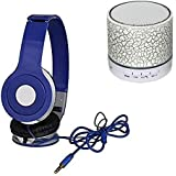 Rhobos Smart LED Light Crack Mini Wireless Bluetooth Speaker With Mega Bass Wired Headphone For IPhone X & Samsung S9 Mobile