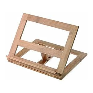 Leggio in legno supporto stand per libro ipad notebook da tavolo 27 x 20 cm elettronica - Leggio da tavolo per studiare ...