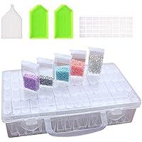 Diamant Broderie Box,Diamond Painting Accessoires Rangemen,Boîte à Broderie Diamant Transparent,Diamant Accessoires de…
