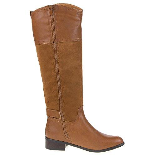 Damen Schuhe, B951, STIEFEL Camel
