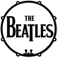 The Beatles Drum Logo Drop T Black White Mouse Mat Gaming Pad Official Gift Idea