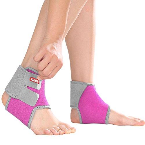 2-teilig Kinder Knöchelschutz Knöchelbandage Fußbandage, Rosa - S