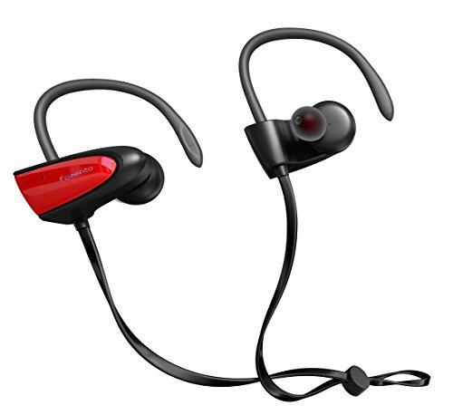 SGIN Bluetooth Kopfhörer, Kabellos Sport Kopfhörer Bluetooth 4.2 In-Ear Headset, Wasserfest mit Mikrofon für Joggen, Workout, Fitness für iPhone, Android und Tablet(rot) - Fozento