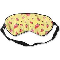 Eye Mask Eyeshade Strawberry Background Sleeping Mask Blindfold Eyepatch Adjustable Head Strap preisvergleich bei billige-tabletten.eu