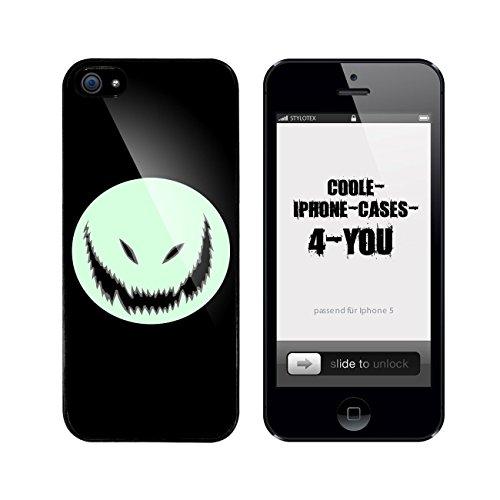 (Iphone 5 / 5S Schutzhülle Monster - schwarzer Rahmen)