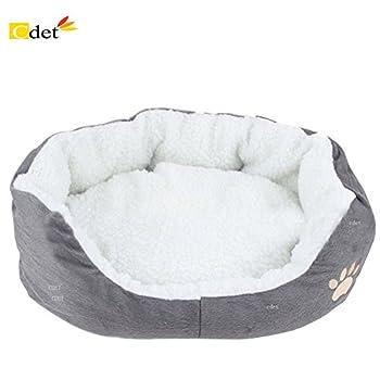 Cdet Rond ou ovale en forme de coussin matelas lit pour Chien/Chat Animaux Lit Pet Cat Bed pour chats et petits chiens Fournitures pour animaux 1PC size 45*35*15cm