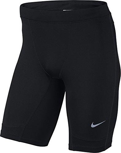 Nike Herren Hose Dri Fit Essential Half Tights, Black/Reflective Silv, XXL, 644252-013 - Nike Dri-fit Tech Short