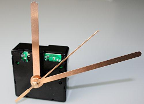 UTS Funkuhrwerk für Ziffernblatt 5-11mm mit Zeigersatz Metall gold gerade