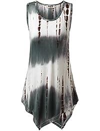 DJT Femme T-shirt Sans Manches Trop Elastique Longue Tops