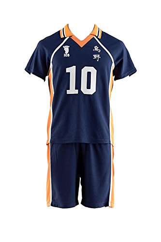 De-Cos Haikyu!! Cosplay Costume Karasuno High Hinata Shouyou #10 Jerset Set V1