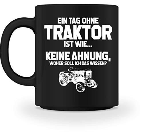 shirt-o-magic Landwirtschaft: Tag ohne Traktor? Unmöglich! - Tasse -M-Schwarz
