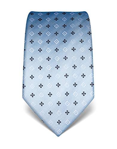 Vincenzo Boretti Herren Krawatte reine Seide gemustert edel Männer-Design zum Hemd mit Anzug für Business Hochzeit 8 cm schmal/breit hellblau