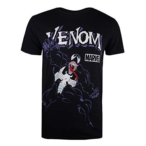 a31330b3d45f Marvel Men's Venom Attack T-Shirt, (Black Blk), Medium (Size
