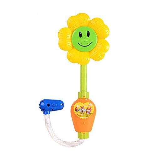 Baby Dusche Spielzeug,Beetest Sonnenblume Baby Bad Dusche Spielzeug Spray Badewanne Brunnen Spielzeug für Kind Handbrause Bad (Bad Spielzeug Brunnen)