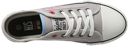 H.I.S Damen 151-020 Sneakers Grau (Grey/Pink)