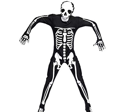 Kostüm Sensenmann Scary - wnddm Erwachsene Männer Halloween Kapuzenkleid Skeleton Sensenmann Ghost Kostüm Joker Black Evil Death Scary Cosplay Horror Outfit@Stil 1_M