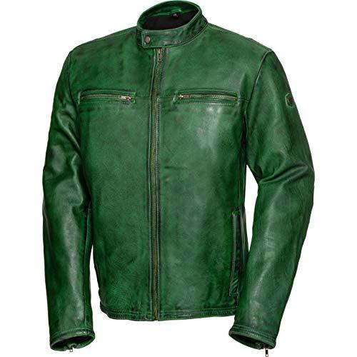Spirit Motors Motorradjacke, Motorrad Jacke Retro-Style Lederjacke 5.0 grün XL, Herren, Chopper/Cruiser, Sommer, Leder/Textil
