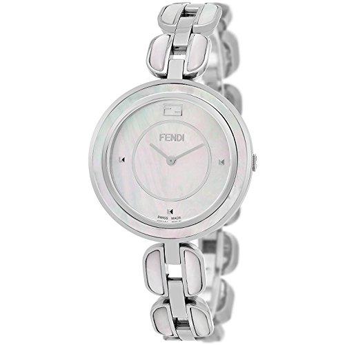 FENDI Women's 36MM MOP Steel Bracelet & CASE Swiss Quartz Watch F361034500