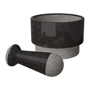 ädelsten–Pilon et mortier, marbre noir