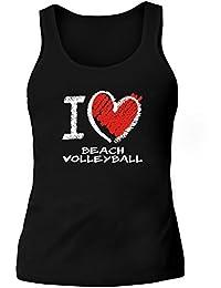 Idakoos I love Beach Volleyball chalk style - Sport - Damen Tank Top