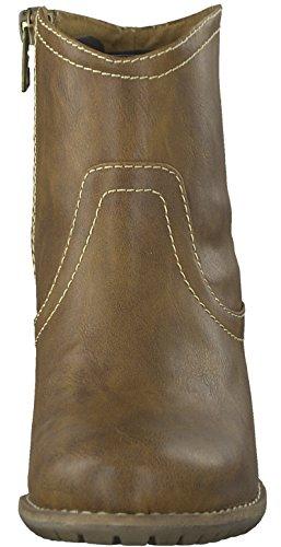 s.Oliver 5-5-25359-29 Modische Damen Stiefelette, Bootie, Stiefel, seitlicher Reißverschluss Muscat