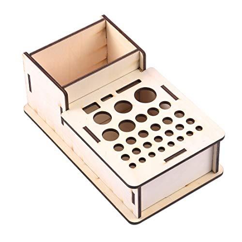 SNOWINSPRING Holz Aufbewahrungs Box Studio Modellierungs Werkzeuge Pinsel Halter Rack St?Nder Organizer Kunst Lieferungen Zubeh?R