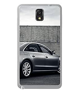 PrintVisa Designer Back Case Cover for Samsung Galaxy Note 3 (grey side sedan wall view)