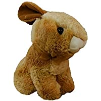 Happy Spring Plush Golden Brown Sitting Bunny by Spirit Marketing LLC