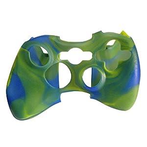 OSTENT Camouflage weichen Silikon Skin Case Cover Tasche kompatibel für Microsoft Xbox 360 Controller – Farbe hellgrün
