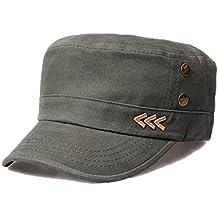 a0ce2d5f89d49 Nameblue Homme/Femme Militaire Casquette de Baseball Casquette Réglable en  Coton Chapeau Sportif Hat Flat