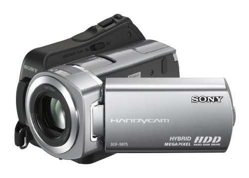 Sony DCR-SR75 Camcorder (Flash / HDD, 60GB, 25-fach opt. Zoom, 6,9 cm (2,7 Zoll) Display, Bildstabilisator) Sony Dvd Videokamera