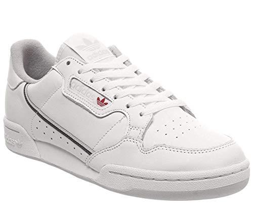 adidas Herren Continental 80 Sneaker, Weiß (Footwear White Grey 0), 43 1/3 EU