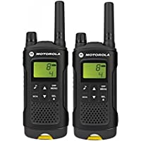 "Motorola""XAP0085BDGAA"" XT180 2-Way PMR446 Walkie Talkie Radio - Black with Yellow Trim (Pack of 2)"