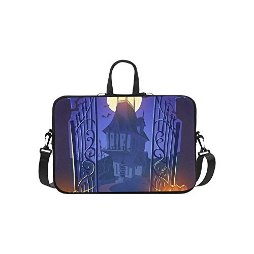 Spooky Old Ghost House Halloween Cardposter Aktentasche Laptoptasche Messenger Schulter Arbeitstasche Crossbody Handtasche Für ()