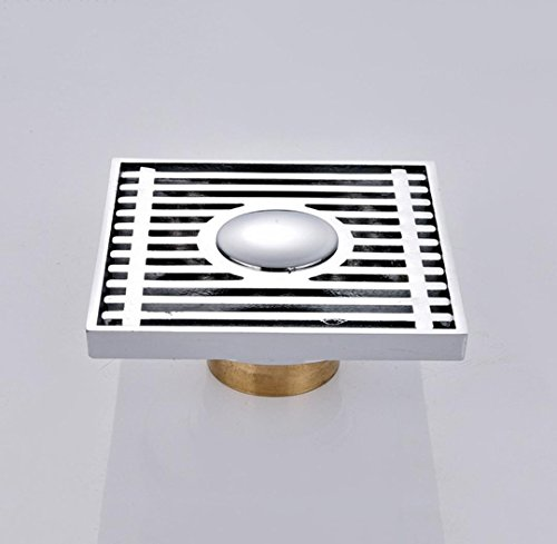 Lichll 4 Zoll Quadrat Cooper Dauble-Gebrauch Boden Abfluss für Bahtroom/Küche, 100 * 100mm -