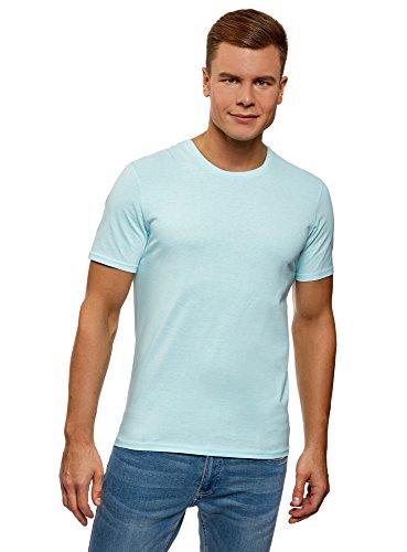 oodji Ultra Hombre Camisa B/ásica con Acabado en Contraste