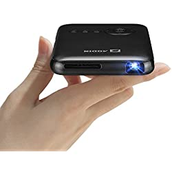 Aodin LED Portátiles Mini Proyector, DLP 32Gb HDMI Entrada De Video 5000mah Recargable Batería Incorporada Mini Proyector Android / Wifi Bluetooth for Teatro En Casa o Uso Al Aire Libre