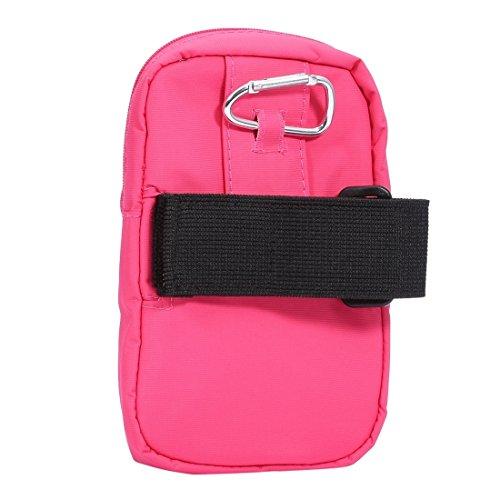 Wkae Case Cover Universal-Double-Layer-Zipper Multifunktions-Freizeit-Art Sport-Arm-Beutel für iPhone 6 &6S / Samsung Galaxy S7 &S6 &S6 Rand, Größe: 15,0 x 9,5 x 2,0 cm ( Color : Pink ) Pink