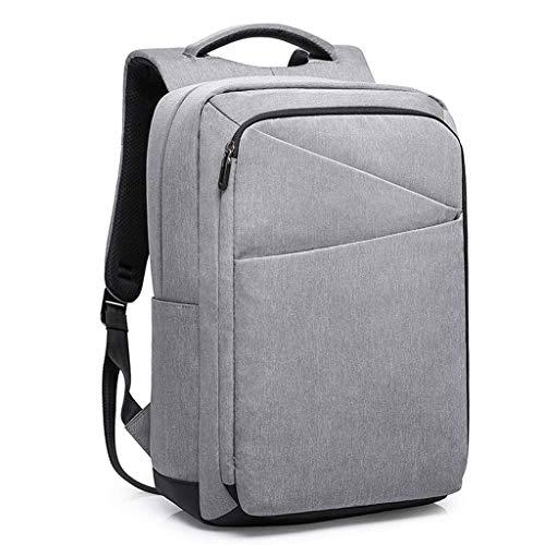 Zaino per laptop da lavoro, Zaino da viaggio impermeabile con porta di ricarica USB, Borsa da scuola leggera e leggera per ragazzi, adatta a notebook da 15.6 pollici Daypack per lavoro, uomini da coll