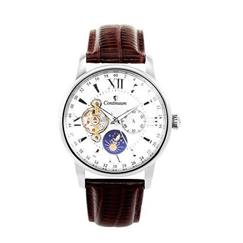 Continuum Herren-Armbanduhr Automatik Analog Leder Braun - C15H13