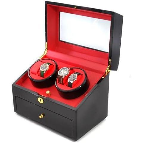 Klarstein Old Marshall caja para relojes (capacidad para 10 relojes, cajón con cerradura, motor silencioso, acabado de calidad) -