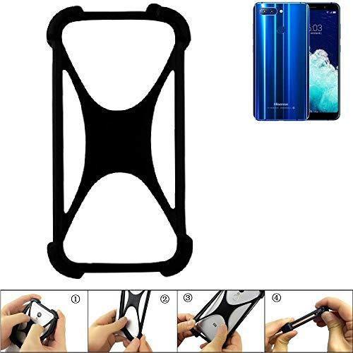 K-S-Trade Handyhülle für Hisense Infinity H11 Pro Schutz Hülle Silikon Bumper Cover Case Silikoncase TPU Softcase Schutzhülle Smartphone Stoßschutz, schwarz (1x)