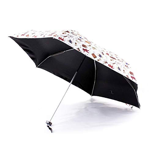 YZMBYUSAN Regenschirm Kreative Marke Fünf Taschenschirm Licht Kleine Kinder Spielzeug Taschen Regenschirm Regen Frauen Nette Gitter Little Bear Strandschirm