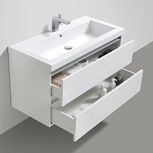 Badmöbelset Waschtisch, Unterschrank und Spiegel - 5