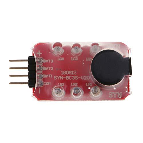 KESOTO Lipo Battery Checker RC 2-3s Batterietester Mini Voltmeter Spannungsanzeige Panel