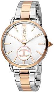 Just Cavalli Logo Women's Silver Dial Stainless Steel Analog Watch - JC1L117M