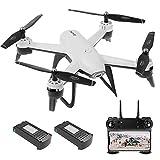 Goolsky SG106 Drone à Flux Optique avec Double Caméra 4K/1080P Grand Angle WiFi FPV Altitude Tenir Geste Photographie Quadricoptère avec Batterie (Blanc, 1080P & 2Batteries)