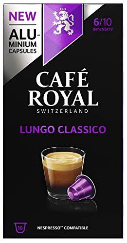 Café Royal Lungo Classico 50 Nespresso kompatible Kapseln (aus Aluminium, Intensität 6/10) (5 x 10 Kaffeekapseln)
