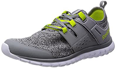 Reebok Men's Sublite Authentic 2.0 Silver,Grey,Yellow And White Running Shoes - 10.5 UK